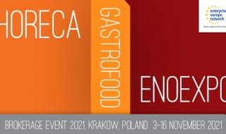 Spotkania B2B - HORECA, GASTROFOOD, ENOEXPO 2021 - Kraków, 3-16 listopada 2021