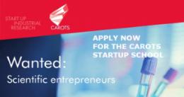 Szkoła CAROTS STARTUP -  oferta dla naukowców zainteresowanych prowadzeniem działalności biznesowej
